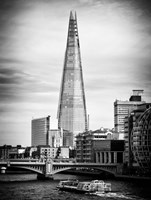 The Shard Building and The River Thames - London Fine Art Print