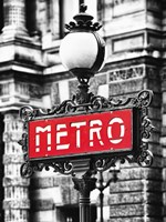 Metro Sign Paris Fine Art Print