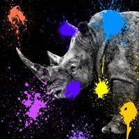 Safari Colors Pop Collection - Rhino Portrait Fine Art Print