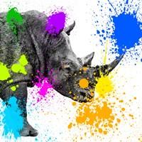 Safari Colors Pop Collection - Rhino Portrait II Fine Art Print