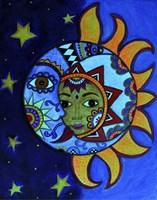La Luna El Sol Estrellado Fine Art Print
