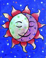 Midnight Sun And Moon Fine Art Print