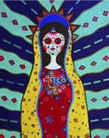 Virgin Guadalupe Dia De Los Muertos Fine Art Print