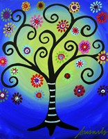 Fullmoon Tree Of Life Fine Art Print
