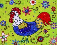 Whimsical Rooster Fine Art Print