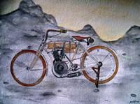 Harley Davidson Bike 1907 Fine Art Print