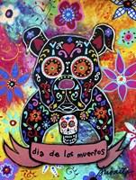 Dia De Los Muertos Bulldog Fine Art Print