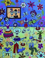 Fiesta Calaveras Amor Fine Art Print