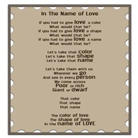 In The Name Of Love Fine Art Print