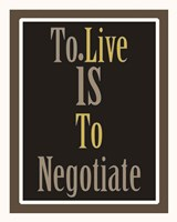 Negotiation 1 Fine Art Print