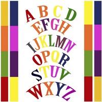 Rainbow Alphabet 2 Fine Art Print