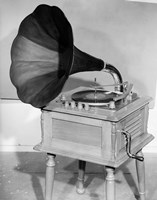 1950s Vintage Gramophone Converted To Furniture Fine Art Print