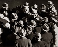 1930s 1940s Elevated View Of Group of Men Fine Art Print