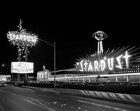 1960s Night Scene Of The Stardust Casino Las Vegas Fine Art Print