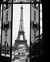 1920s Eiffel Tower Built 1889 Fine Art Print
