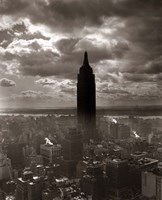 1930s 1940s Empire State Building Silhouetted In Nyc Fine Art Print