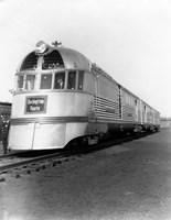 1930s Zephyr Train Engine Cars Fine Art Print