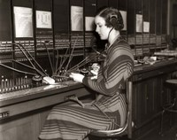 1930s Woman Telephone Operator Fine Art Print