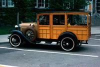1930s Wood Body Station Wagon Antique Fine Art Print
