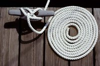 1980s Detail Of Cleat Hitch And Coiled Rope Fine Art Print
