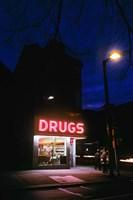 1980s 24 Hour Drug Store Neon Sign Fine Art Print