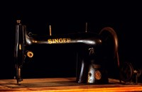 Antique Singer Sewing Machine Fine Art Print