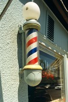 Barber Pole Spring Lake New Jersey Usa Fine Art Print