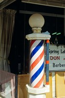 Barber Pole Spring Lake New Jersey Usa Fine Art Print