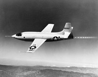 1940s 1950s Bell X-1 Us Air Force Supersonic Plane Fine Art Print