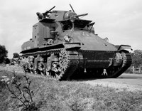 1940s World War Ii Era Us Army Tank Fine Art Print