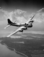 1940s Us Army Aircraft World War Ii B-17 Fine Art Print