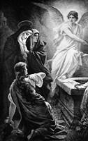 He Is Risen By Plockhorst Angel Mary Fine Art Print
