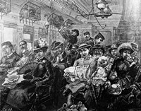 1880S Illustration Crowded Passenger Car Fine Art Print