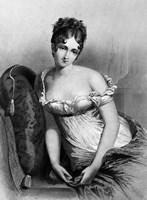 1800s Madame Recamier The Most Beautiful Woman Fine Art Print