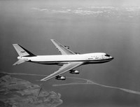 1960s Boeing 747 In Flight Fine Art Print