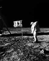 1969 Astronaut Us Flag Fine Art Print