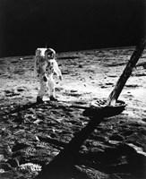 1960s Astronaut Buzz Aldrin In Space Fine Art Print