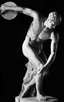 Classical Nude Figure Discus Thrower Fine Art Print