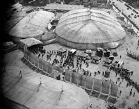 1930s Aerial View Of Circus Tents Fine Art Print