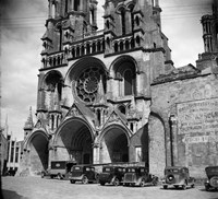 1930s Laon Cathedral Constructed In 12Th And 13Th Fine Art Print