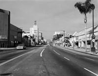 1960s Street Scene West Wilshire Blvd Los Angeles, California Fine Art Print