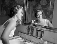 1950s Smiling Woman Fine Art Print