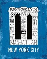 Iconic NYC V Framed Print