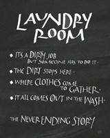 Laundry Room Sayings Fine Art Print