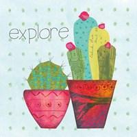 Southwest Cactus I Framed Print