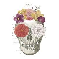 Floral Skull I Fine Art Print