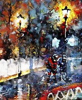 Abstract Hockey Kids1 Fine Art Print