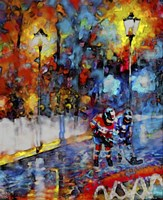 Abstract Hockey Kids2 Fine Art Print