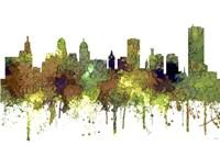 Buffalo New York Skyline - Safari Buff Fine Art Print
