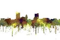 Fort Wayne Indiana Skyline - Safari Buff Fine Art Print